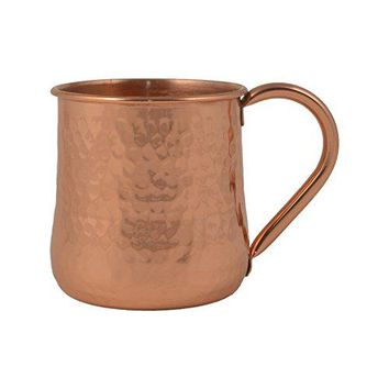 Mothers Day Gifts  GoCraft Pure Copper Beer Mug | Conical Design Mexican Mule Mug with Hammered Finish18 oz