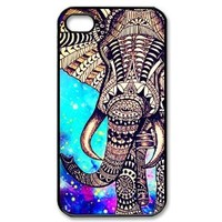 Generic Custom Elephant Aztec Cover Case for iPhone 4 4S PP-1167 (Fashion design-1)