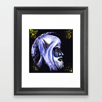 The old elf Framed Art Print by Moonlit Emporium