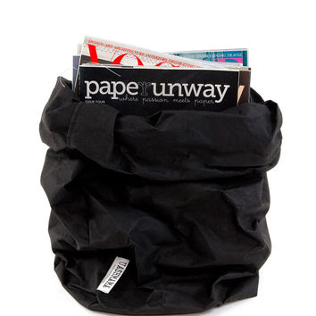 Uashmama Paper Bag - Black - XL