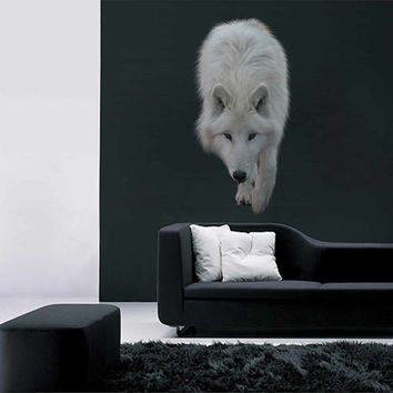 wolf wall Decals wolf wall decor wolf Full Color wall Decals Animals wall Decals Home Decor for kids room cik2226