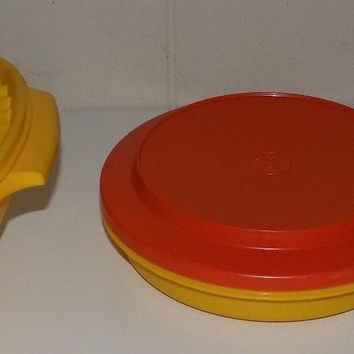 Vintage Tupperware Harvest Color Assortment Servalier