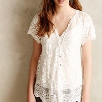 Cahaya Lace Blouse by Zimmermann White