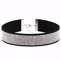 JEWELRY CHOKER Necklace Women's Crystal collar punk jewelry goth fashion accessories