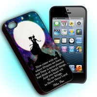 Custom Phone Case Peter Pan Quote For iPhone 4, iPhone 4s, iPod 4, iPod 5, Samsung Galaxy S3, Samsung Galaxy S4, Hard Cover
