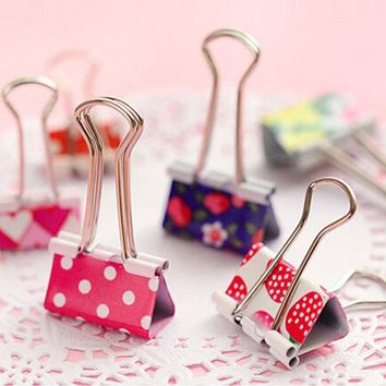 19/24MM 24Pcs Colorful Metal Binder Clips Notes Letter Paper Clip Office Supplies For Clean up office paperwork bills organized