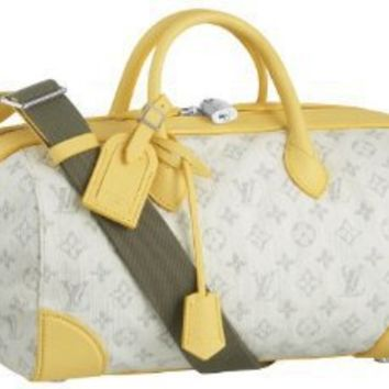 Louis Vuitton Monogram Denim Speedy Round - Yellow