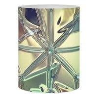 Diamond pattern, stained glass look candle