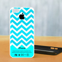 Chevron mint Apple Logo  - Photo on Hard Cover For iPhone 4/4S, iPhone 5 Case, And Select an Option For Colour Choice