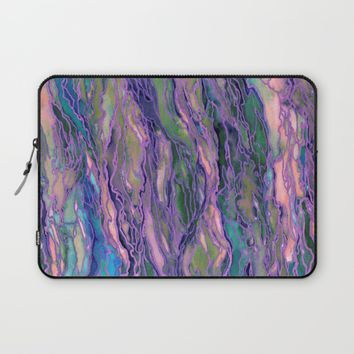 MARBLE IDEA! LAVENDER PINK PEACH Abstract Watercolor Painting Colorful Geological Nature Marbled Art Laptop Sleeve by EbiEmporium