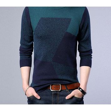 Cashmere Sweater Men New Winter Thick Warm Wool Pullover Men Casual O-Neck Pull Home Men Sweaters