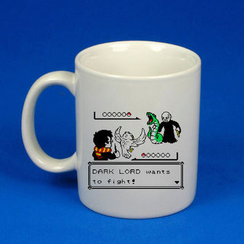 harry potter versus lord voldemort dark lord wants to fight custom mug, cup, funny mug , funny cup,, :)