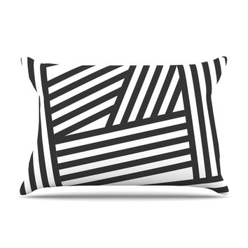 "Louise Machado ""Black Stripes"" Pillow Sham"