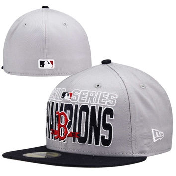New Era Boston Red Sox 2013 World Series Champions 59FIFTY Fitted Hat - Gray - http://www.shareasale.com/m-pr.cfm?merchantID=7124&userID=1042934&productID=540367496 / Boston Red Sox