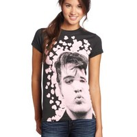 Impact Merchandising Juniors Elvis Presley Smooches Tee