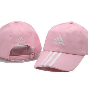 Pink Adidas Printed Cotton Baseball Golf Cap