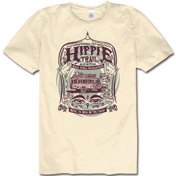 NEW! Hippie Trail Men's Organic T-Shirt: Soul Flower Clothing