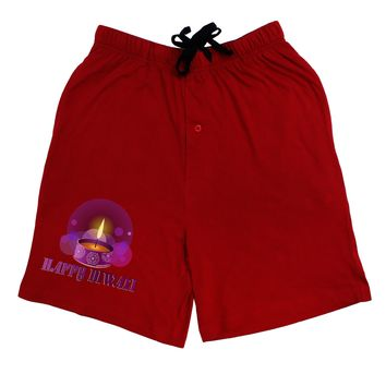 Happy Diwali Purple Candle Adult Lounge Shorts  by TooLoud