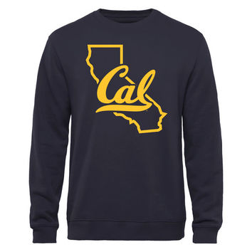 Cal Bears Tradition State Pullover Sweatshirt - Navy