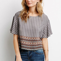 Abstract Medallion Boxy Top