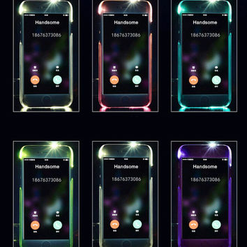 Cool light up mobile phone case for iPhone 7 7 plus  iphone 5 5s SE 6 6s 6 plus 6s plus + Nice gift box 072301