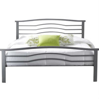 Queen size Contemporary Metal Platform Bed with Headboard & Footboard