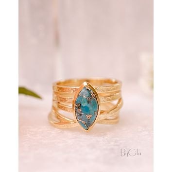 Connie Ring - Copper Turquoise