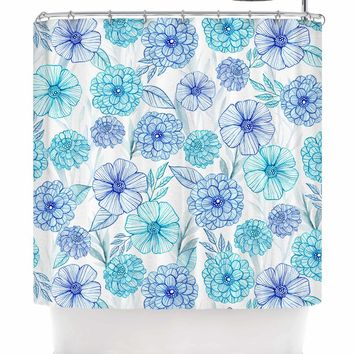 Julia Grifol Sweet Garden Shower Curtain