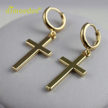 Hot Women Earrings fashion jewelry Cross Dangle Earring Piercing pendientes mujer moda brincos online shopping india Silver S10