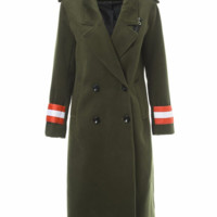 Becca Army Green Trench Coat