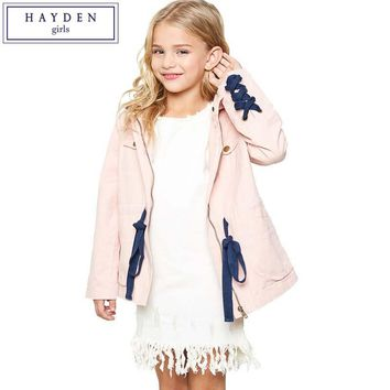 Hooded Trench Coats Cotton Jackets