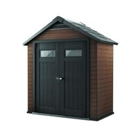 Keter Fusion 7.5 ft. x 4 ft. Wood and Plastic Composite Shed-219883 - The Home Depot