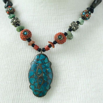 Necklace Bohemian Beaded Vintage by My3Chicks on Etsy