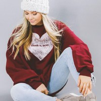 "Women's ""Thank U, Next"" Heart Graphic Sweatshirt"