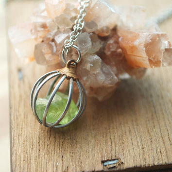 mecca of tree natural stone necklace the peridot chakra index life product with stones
