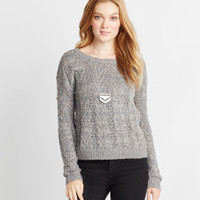 Open-Stitch Sweater -