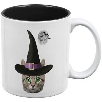 DCCKJY1 Halloween Funny Cat Witch All Over Coffee Mug