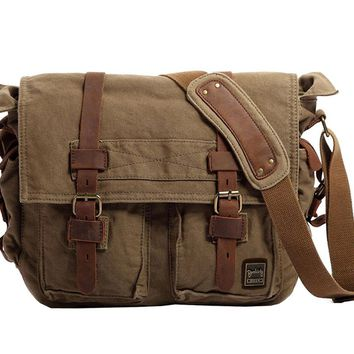 2017 Men Canvas Messenger Bags Designer Brand Vintage Crossbody Bags Laptop Bags  Military Handbags Satchel Shoulder Travel Bags