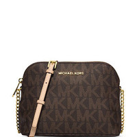 Michael Michael Kors Large Signature Cindy Dome Crossbody