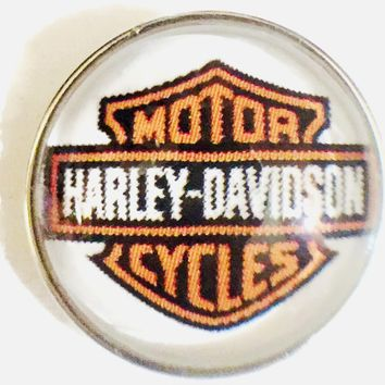 Harley Davidson Motorcycle 2 Biker Babe Large 18MM - 20MM Snap Charm for Snap Jewelry