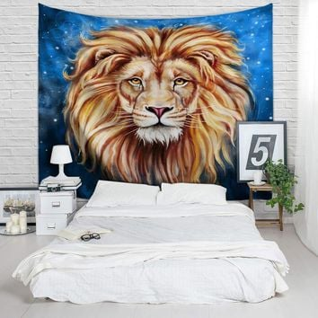 King of The Jungle Lion Wall Tapestry