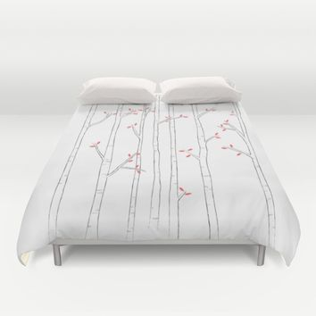 Birch Trees Duvet Cover by Jonathan Hall