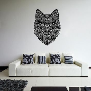 ik1098 Wall Decal Sticker head wolf predator animal forest living bedroom