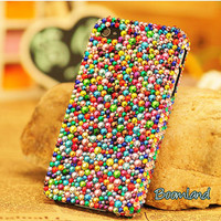 Bling Colorful Crystals iPhone Cases iPhone 4 by iPhoneCasesStyle