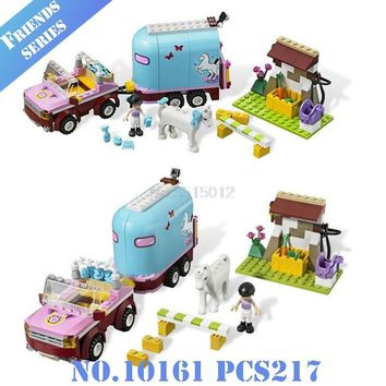 Mailackers 10161 Legoing Friends Figure Heartlake Emma's Horse Trailer Legoings Figures Building Blocks Toys For Children 41039