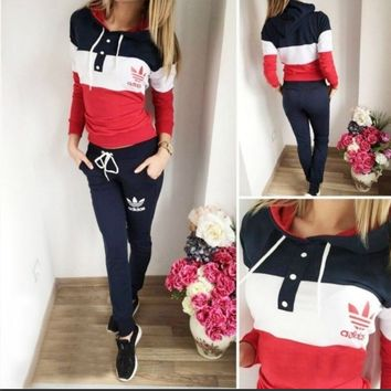Sports Bottom & Top Hats Print Casual Hoodies [11004837575]