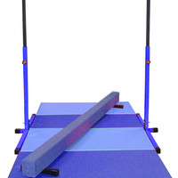 Little Gym - Blue Bar, Blue Beam, Blue and Light Blue Mat | Nimble Sports