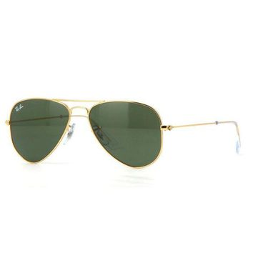 Gotopfashion Ray Ban RB3044 L0207 Small Aviator Sunglasses Gold Frame Green Classic G-15 52mm