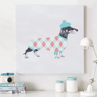 Dachshund Plaid Wall Art