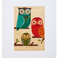 Wild at Hearth Print in Owls